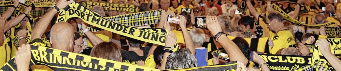 Die Begeisterung für Borussia Dortmund ist in der Dreifaltigkeitskirche in der Nähe des Borsigplatzes nicht nur während der speziellen Gottesdienste spürbar. Archivfoto: Maas